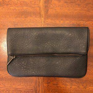 NWOT Smashbox Faux Leather Foldover Cosmetic Bag